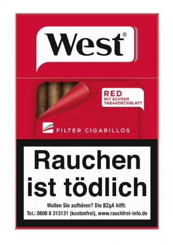 Einzelpackung West Filter Cigarillos Red 17er