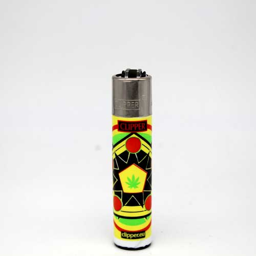 Clipper Feuerzeug Jamaican Mandala by Shibers 2015 C