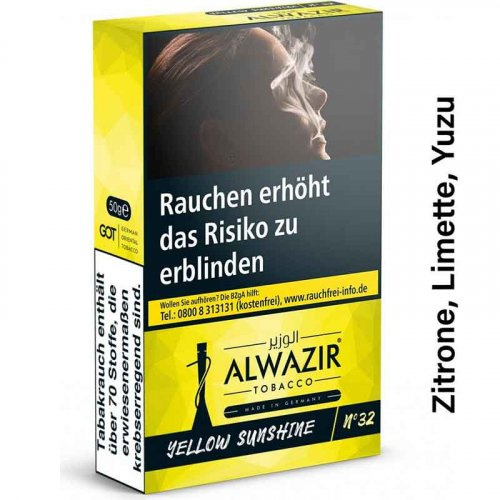 Alwazir Yellow Sunshine No. 32 Shisha Tabak 50g