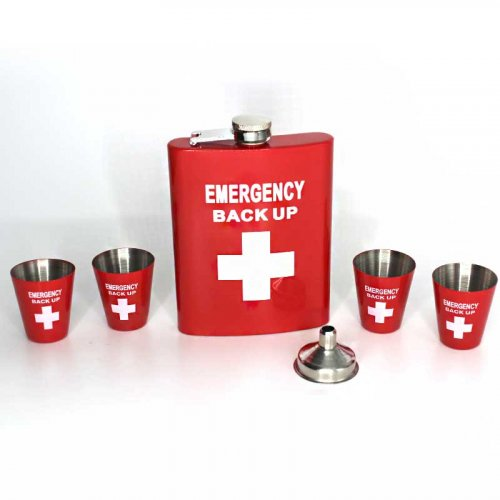 Angelo Flachmann Set Emergency back up 6oz.