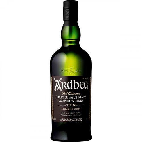 Ardbeg Single Malt Whisky 10 Years Glas/EW 0,7l 46% vol.
