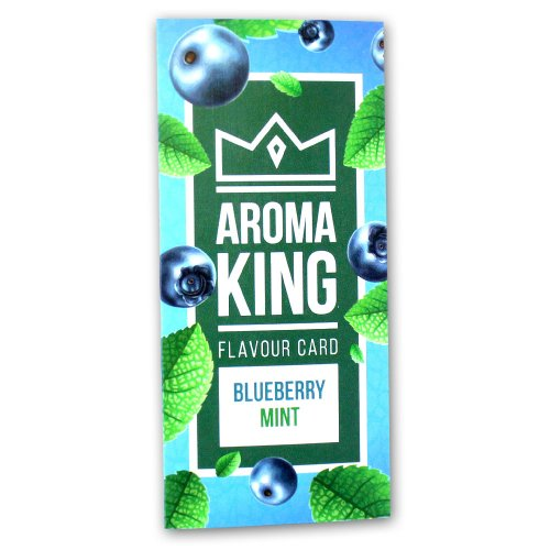Aroma King Blueberry Mint Flavour Card