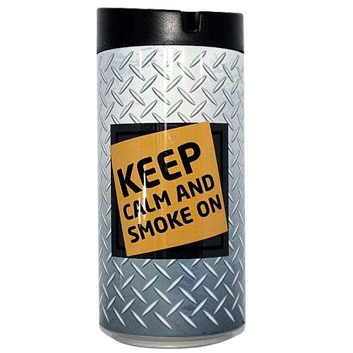 Aschenbecher fürs Auto Keep Calm Silber-Grau