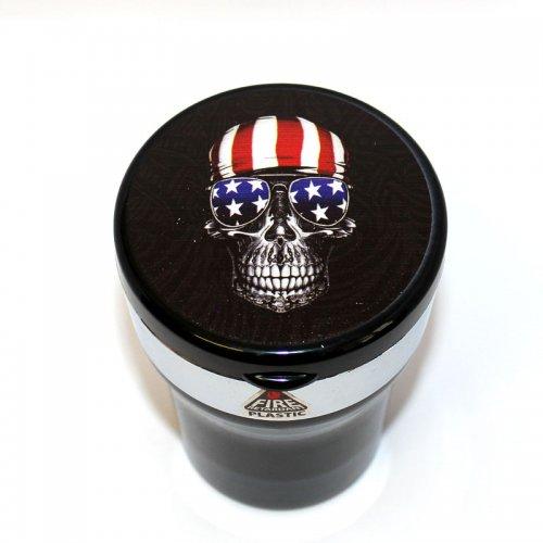 Aschenbecher fürs Auto Totenkopf America mit LED Leuchte