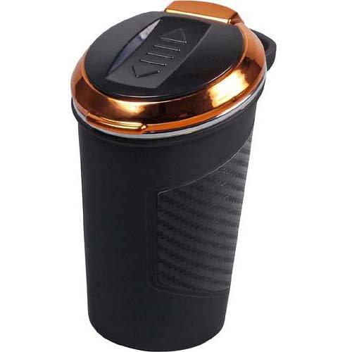 Aschenbecher fürs Auto mit USB und Anzünder Kupfer