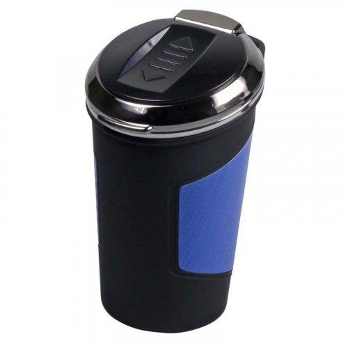 Aschenbecher fürs Auto mit USB und Anzünder Silber