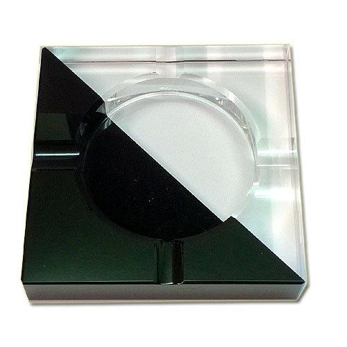 Ascher für Zigaretten  Glas Schwarz-Weiß 4 Ablagen (Artikel wird nicht mehr hergestellt)