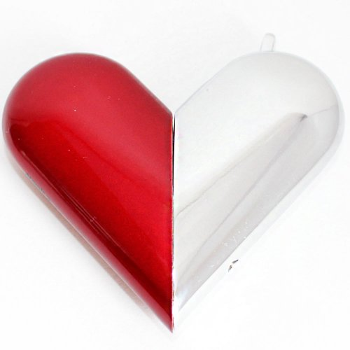 Feuerzeug Atomic Heart Softflame Rot-Silber