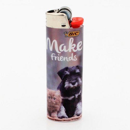 BIC Feuerzeug Best Friends MAKE FRIENDS