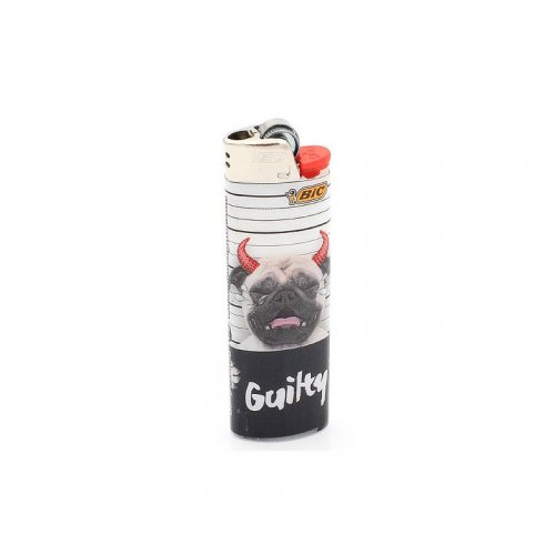 BIC Feuerzeug Gangster Dog GUILTY