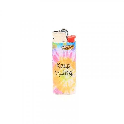 BIC Feuerzeug Mini Tie Dye KEEP TRYING