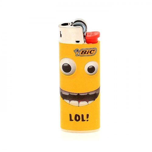 BIC Feuerzeug Mini Yellow Mouth LOL!