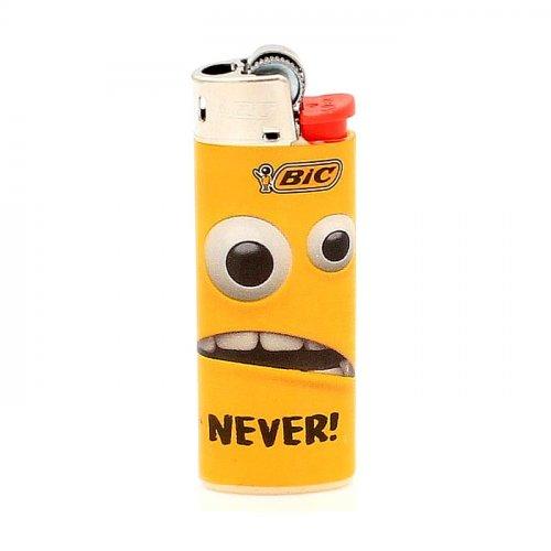 BIC Feuerzeug Mini Yellow Mouth NEVER!