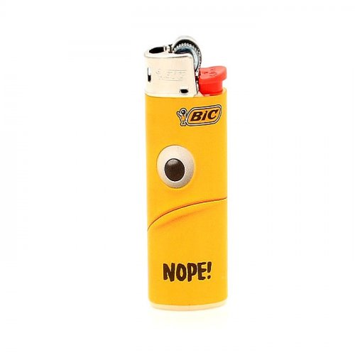 BIC Feuerzeug Mini Yellow Mouth NOPE!