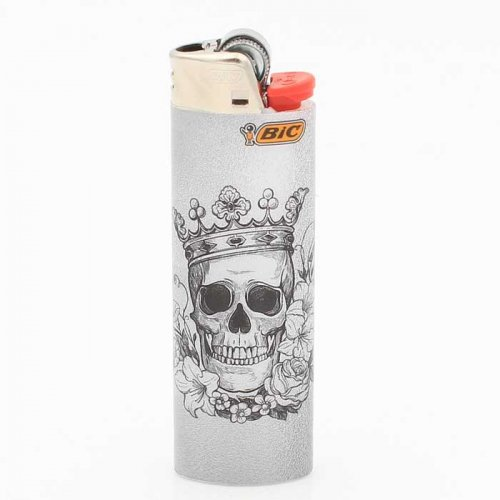 BIC Feuerzeug Tatto Skull and Crown 3v8