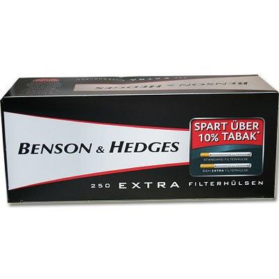 Benson & Hedges Zigarettenhülsen Extra 250 Stück
