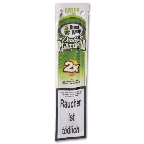 Blunt Wraps Zigarrenumblatt Double Platinum Green (Apple Martini)