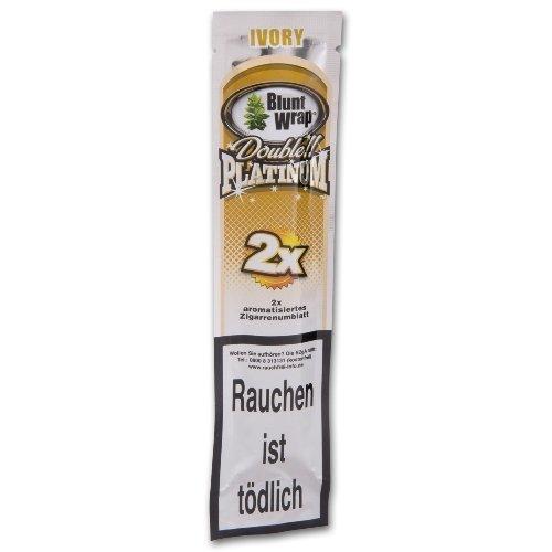 Blunt Wraps Zigarrenumblatt Double Platinum Ivory (French Vanilla)