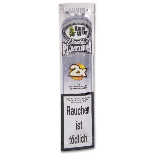 Blunt Wraps Zigarrenumblatt Double Platinum Silver (Berries)