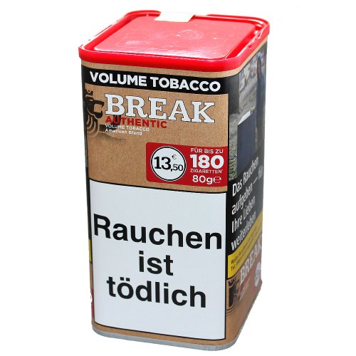 Break Tabak Authentic 75g Dose Volumentabak