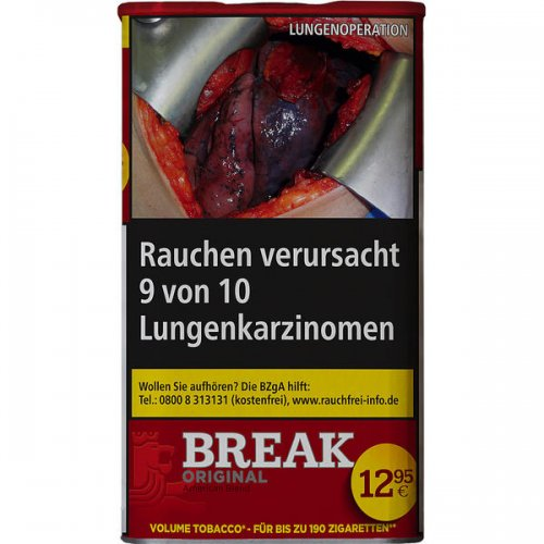 Break Tabak Rot L 75g Dose Volumentabak