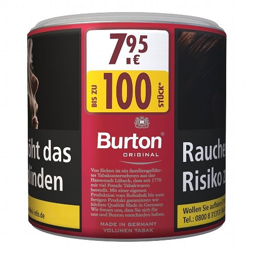 Burton Tabak Rot L 43g Dose Volumentabak