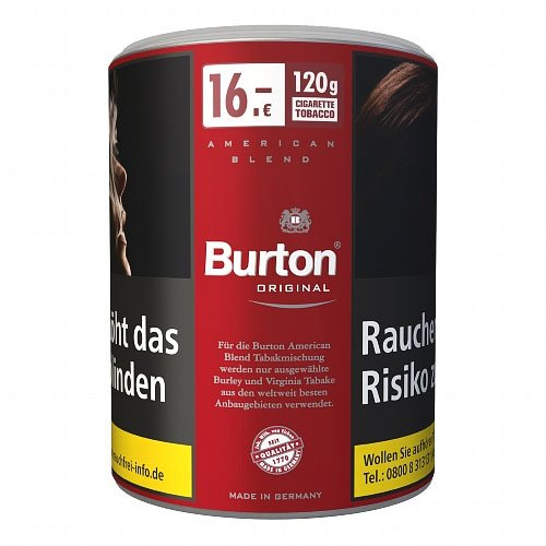 Burton Tabak Rot Original 120g Dose Feinschnitt