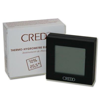 CREDO Digital-Hygrometer schwarz