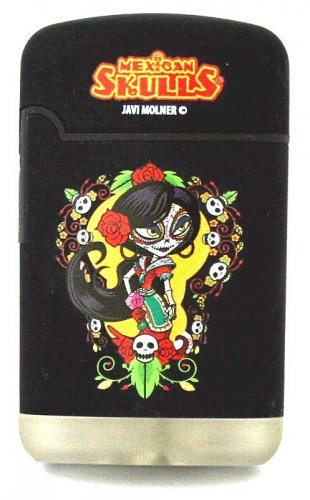 Mexican Skulls Easy Torch 8 Jet Feuerzeug Catrinas Schwarz 2