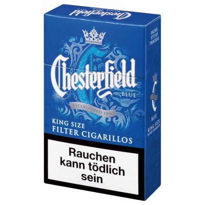 Chesterfield Filterzigarillos Blue King Size mit Naturdeckblatt