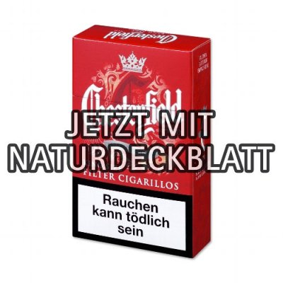 Chesterfield Filterzigarillos Red Naturdeckblatt