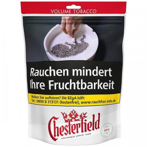 Chesterfield Tabak Rot 135g Beutel Volumentabak