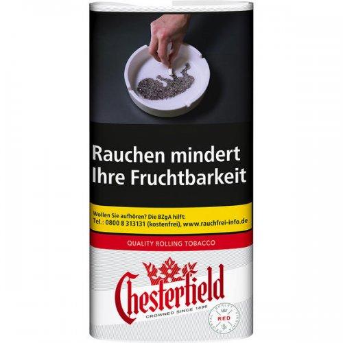 Chesterfield Tabak Rot 30g Päckchen Feinschnitt