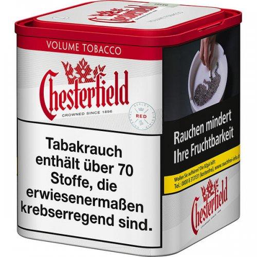 Chesterfield Tabak Rot 42g Dose Volumentabak