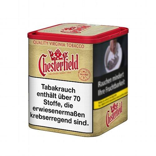 Chesterfield Tabak ohne Zusätze True Red 95g Dose Feinschnitt