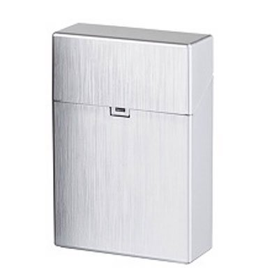 Clic Box Zigarettenbox 20er Metallikfarbig Silver