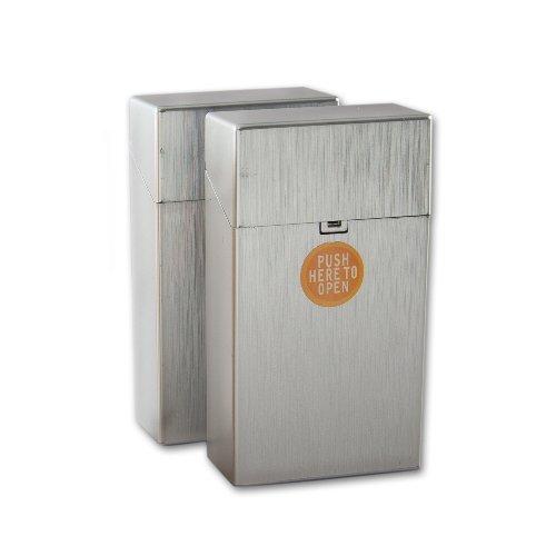 Clic Boxx Zigarettenbox 100mm Silber
