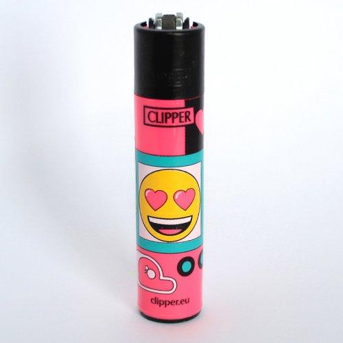 Clipper Feuerzeug EmojiMix4 Pink