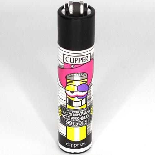 Clipper Feuerzeug Clipper Man 1 1v4 mit Rosa Cowboy Hut