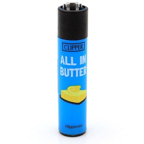 Clipper Feuerzeug Denglish 5 - 1v4 All in Butter