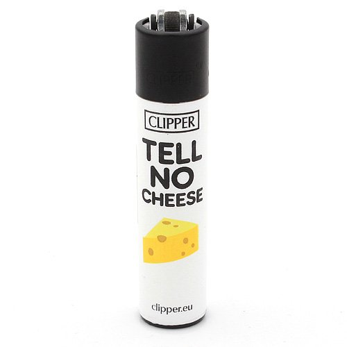 Clipper Feuerzeug Denglish 5 - 3v4 TELL NO CHEESE