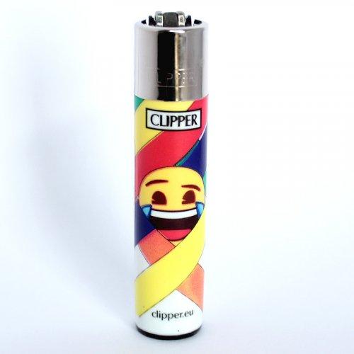 Clipper Feuerzeug EmojiMix2 Tränen Lach Smiley - 3/4