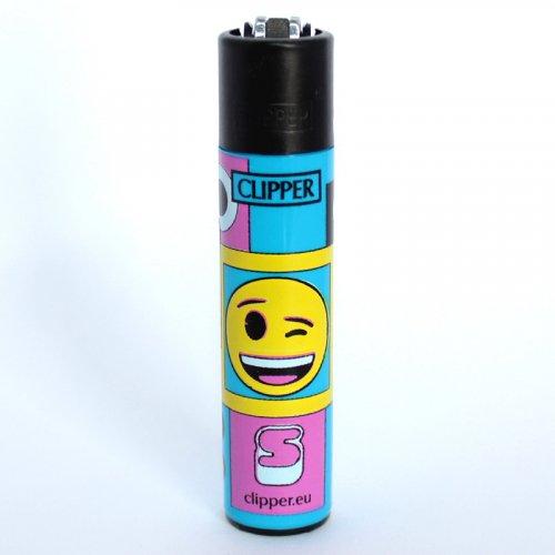 Clipper Feuerzeug EmojiMix4 Blau
