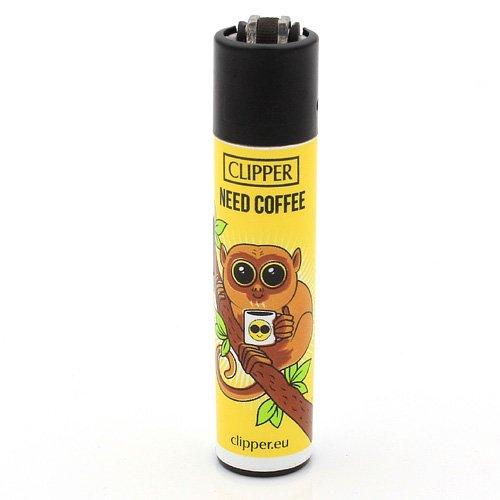 Clipper Feuerzeug Koboldmakis - 2v4 NEED COFFEE