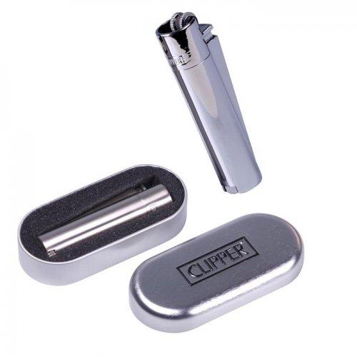 Clipper Feuerzeug Metall Silber