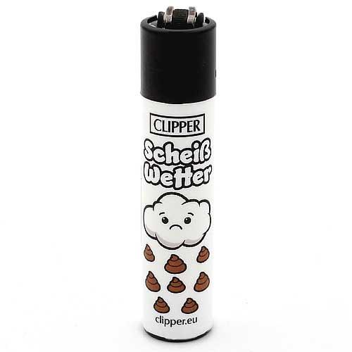 Clipper Feuerzeug Slogan 25 - 1v4 SCHEIß WETTER