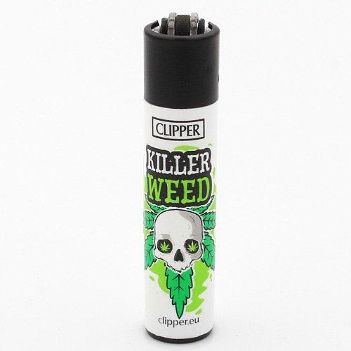Clipper Feuerzeug Weed Slogan 2 - 1v4 KILLER WEED