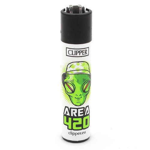 Clipper Feuerzeug Weed Slogan 2 - 4v4 AREA 420