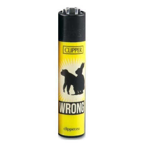 Clipper Feuerzeug Wrong # 2 - 3/4
