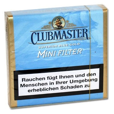 Clubmaster Zigarillos Blue Gold Mini Filter